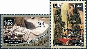 Destruction of Iraqi Antiquities stamps