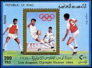 Los Angeles Olympics miniature sheet